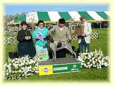 Monroe's win photo from Bucks County KC Show
